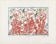 Pierre Alechinsky. Three Rebels (Trois désordinateurs). 1967