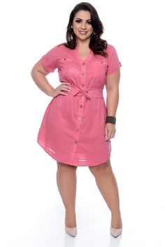Vestido Plus Size Ledier Plus Size Shirt Dress, Plus Size Dresses, Plus Size Outfits, Fashion Mode, Curvy Women Fashion, Fashion Outfits, Latest African Fashion Dresses, African Dresses For Women, Plus Size Fashion For Women