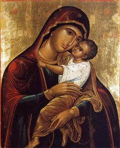 Mary & baby Jesus. True love. Mary Jesus Mother, Mary And Jesus, Blessed Mother, Byzantine Art, Byzantine Icons, Religious Icons, Religious Art, Textile Museum, Madonna And Child