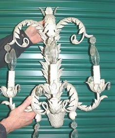 A Couple of Blanc D'Ivoire 3 Lights Sconces | eBay