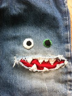 patched jeans!