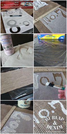 Parchment paper for making stencils!