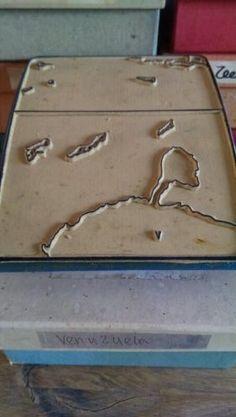Landkaart Stempel - Stempel In Doos Aruba Bonaire Curacao ABC eilanden