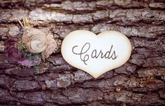 Hand Engraved Rustic Cards Sign by PNZdesigns on Etsy, $7.50
