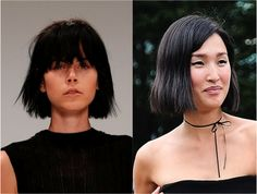 The Best Short Haircuts by Face Shape: Bobs With Bangs: Great for Almost All…