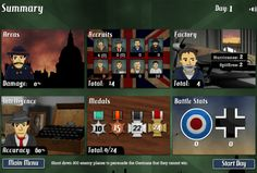 Spitfire: 1940 , The Battle of Britain is about to begin and you have been called upon to manage the British defence. http://onlineaddictivegames.com/spitfire-1940