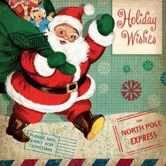Free birthday and Christmas vintage printables Vintage Christmas Images, Retro Christmas, Christmas Pictures, Santa Pictures, Vintage Images, Christmas Past, Christmas Holidays, Christmas Crafts, Christmas Things