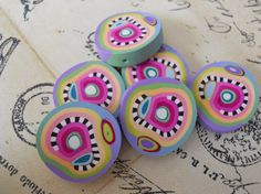 Polymer Clay Beads by TLS Clay Design by TLSClayDesign on Etsy, $6.99