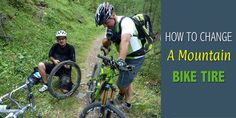 Step by step guide of changing mountain bike tire.