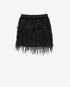 mason by michelle mason Feather Mini Skirt