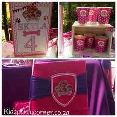 Paw Patrol Sky birthday theme party supplies,decor and favours www.kidzpartycorner.co.za