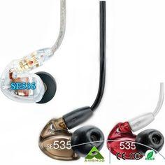 TOP Quality SE535 Earphone Dynamic HIFI Bass Noise Canceling Earphone 3.5MM Stereo In Ear Earphone With Package VS SE215