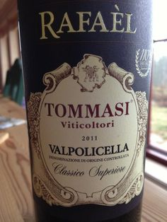 Tommasi Rafael Valpolicella Classico Superiore 2011 Rafael Valpolicella Classico Superiore 2011!  And, my husband loved this bottle with his meatball salad! Cheers!!!