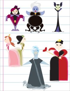 Georetrocal Disney Villains by unsinkable-apple.deviantart.com on @deviantART