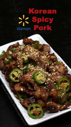 Walmart Asian Spicy Pork - Walmart Recipes - Ideas of Walmart Recipes - Walmart Asian Spicy Pork Recipe & Video Seonkyoung Longest Spicy Pork Recipe, Pork Recipe Video, Spicy Miso Ramen Recipe, Bulgogi Recipe, Chicken Recipes Video, Pork Recipes, Asian Recipes, Asian Foods, Recipies