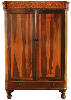 """Carved Boxwood and """"Bulong Aeta"""" Kamagong Cabinet, c. (Boxwood and Kamagong) Architrave, Vase Shapes, Antique Cabinets, Philippines Travel, Round Corner, Panel Doors, Antique Furniture, Auction, Carving"""