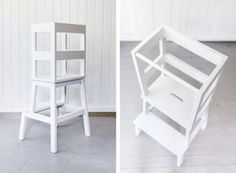 Ikea hack - toddler learning tower using a Bekväm stool | Tutorial - step-by-step | Happy Grey Lucky