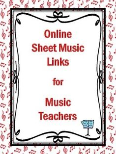 FIVE pages of links to FREE Online Sheet Music Sites for the music classroom. Online Sheet Music, Middle School Music, Music Link, Music Sites, Music Worksheets, Piano Teaching, Music Activities, Elementary Music, Music Therapy