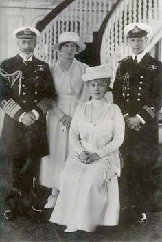 King George V and Queen Mary with two of their children, Princess Mary and the Duke of York