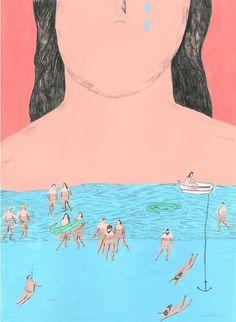 Life: a big mexican soap opera by Mariana Miserável, via Behance