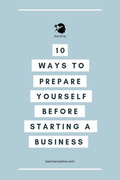 If you are planning to start your own business and leave your there are a couple of things you should do beforehand. Here is a list of 10 ways to prepare yourself before starting a business. Writing A Business Plan, Business Advice, Business Entrepreneur, Business Planning, Strategy Business, Business Goals, Start A Business From Home, Creating A Business, Starting Your Own Business