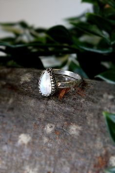 Moonstone Gemstone Sterling Silver Ring | Etsy Handmade Sterling Silver, Sterling Silver Rings, Stackable Rings, Gemstones, Etsy, Jewelry, Jewlery, Sterling Silver Thumb Rings, Gems