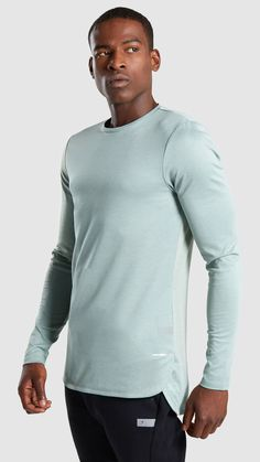 360d984f720112 Gymshark Breathe Long Sleeve T-Shirt - Pale Green