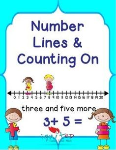 This product is intended to provide students in kindergarten and 1st grade with practice the addition strategy counting on using number line. It includes worksheets with the largest number identified by a star for students who struggle with identifying the largest number.
