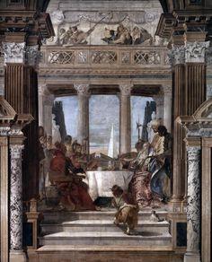 Giambattista Tiepolo - affreschi a Palazzo Labia:Incontro tra Antonio e Cleopatra, 1746 Venice.