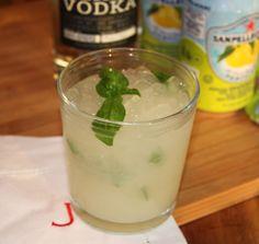 Basil, Grapefruit San Pellegrino, Western Son Vodka Summer Cooler