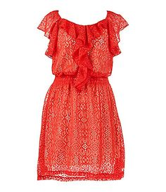 2 Hip by Wrapper 716 Crocheted Knit Dress #Dillards