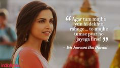 13 Romantic Movie Quotes That Will Either Make You Cringe Or Sigh Wistfully Love Songs Lyrics, Song Lyric Quotes, Music Quotes, Pretty Lyrics, Famous Dialogues, Movie Dialogues, Yjhd Quotes, Bollywood Love Quotes, Filmy Quotes