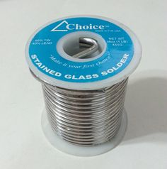 Choice Stained Glass Solder 60 40 0 125 Diameter Solid 60 Tin 40 Lead 1lb New Amerway Glass Stained Glass Tin