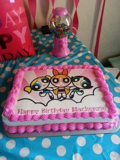 My daughter's 2nd powerpuff girls cake
