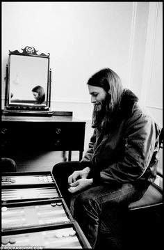 David Gilmour, backgammon ninja, by Jill Furmanovsky on the Dark Side of the Moon tour, for which she was the official photographer. Not shown: David's opponents Rick Wright and Hipgnosis' Storm Thorgerson, both of whose asses he's beating.  Bonus pic...