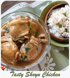 Two tasty Shoyu Chicken recipes. One with a delicious sauce and the second recipe is easy to make and very tasty.