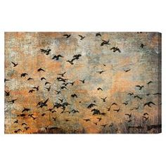 Hang this artful canvas print above your living room seating group to create a stylish conversation space, or display it in the foyer for eye-catching appeal. Crafted in the USA, this chic design showcases a flying birds motif.  Product: Canvas printConstruction Material: Canvas and woodFeatures:  Flying birds motif Professionally hand stretched and gallery wrappedArrives ready to hang with all hardware includedMade in the USA Includes a certificate of authenticity by the artist   Cleaning…