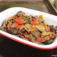 Recette de Légumes rôtis confits au four Polenta Recipes, Veggie Recipes, Ratatouille Au Four, I Want To Eat, Jamie Oliver, Pot Roast, Food And Drink, Beef, Vegan