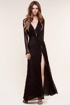 500a6a5fab The Jetset Diaries Fiesta Wrap Maxi Dress in Black Maxi Wrap Dress