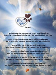 "I love this poem, but changed the last line, since my BFF was my dog, Bear. ""You and I will forever be the best of friends. Dog Quotes, Animal Quotes, Dog Sayings, Chihuahua Quotes, Animal Poems, I Love Dogs, Puppy Love, Pet Poems, Pet Loss Grief"