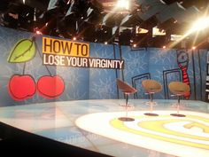 On the set at Fusion, about to do an interview for the film How To Lose Your Virginity. http://virginitymovie.com