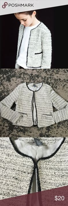 "Zara Kids Tweed Jacket Size 13-14 Excellent condition. Length- 19 1/2"". Waist across front- 16"". Zara Jackets & Coats Blazers"