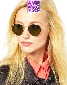 Image 3 ofnbsp;Ray-Ban Crystal Green Round Sunglasses