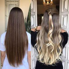 """751 curtidas, 13 comentários - GLAYDA ARTUSO (@glayda) no Instagram: """"Antes ❌ Depois com Stefany, modelo que fiz hoje no ✨Curso Vip de Aperfeiçoamento em Mechas ✨ ! E…"""" hair transformation long hair balayage"""