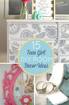 15 Stylish DIY Projects for Teen Girls. A teen and tween girl's room is her … 15 Stylish DIY Projects for Teen Girls. A teen and tween girl's room is her sanctuary. Help her make it truly reflect her style and personality with these teen room decor ideas. Diy Room Decor For Teens, Diy Projects For Teens, Diy Home Decor, Diy For Girls, Diy For Teens, Teen Diy, Tween Girls, Ideas Hogar, Teen Girl Bedrooms