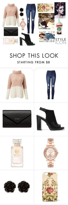 """""""watch me"""" by mihan22 on Polyvore featuring Miss Selfridge, Balenciaga, Michael Kors, Tory Burch, Erica Lyons, Whiteley and Gucci"""