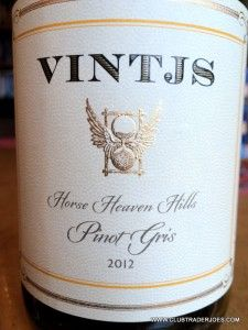 This is pretty good wine for $7.99 from Trader Joe's under the VINTJS label. WA state grown Horse Heaven Hills Pinot Gris wine #traderjoes #vintjs