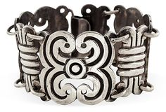 "Beautiful Classic Prieto Mexican Sterling Silver Bracelet on OneKingsLane.com $555 - SOLD Signed ""Prieto"" & marked ""Ave Juarez 40, ""Mexico 925"