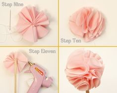 paiges of style: DIY Fabric Flower Cupcake Topper