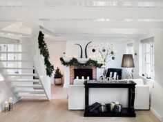 Here's a white living room to go with the kitchen.